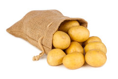 Borsa di Potatoe immagini stock