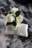 Borsa e fiori di nozze Fotografie Stock