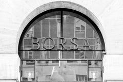 Borsa Italiana, ιταλική έδρα χρηματιστηρίου Στοκ εικόνα με δικαίωμα ελεύθερης χρήσης