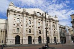 A bolsa de valores italiana em Milão, Italia Imagem de Stock