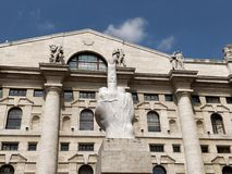 Borsa Milano Zdjęcia Royalty Free