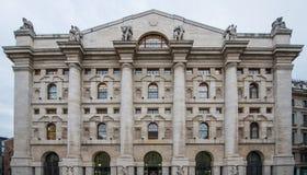 Borsa Milano Fotografia Stock Libera da Diritti