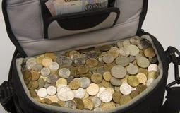 Borsa per la conservazione dei contanti di soldi. immagini stock libere da diritti