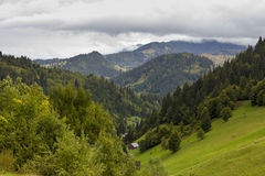 Borsa Resort and Maramures Mountains Stock Photo