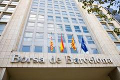 Borsa valori, Barcellona Fotografie Stock