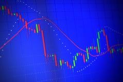 Borsa valori dello schermo di affari Fotografie Stock