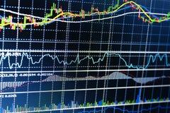 Borsa valori dello schermo di affari Fotografia Stock Libera da Diritti