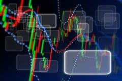 Borsa valori dello schermo di affari Fotografia Stock