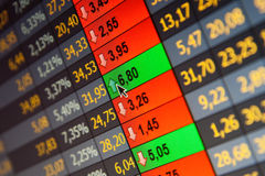 Borsa valori di dati finanziari Fotografia Stock