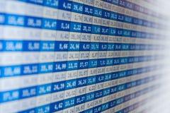 Borsa valori di dati finanziari fotografia stock libera da diritti