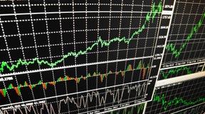 Borsa valori di dati finanziari immagine stock
