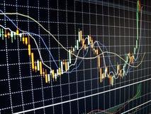 Borsa valori di dati finanziari immagini stock libere da diritti