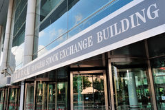 Borsa valori di Schang-Hai Immagini Stock Libere da Diritti