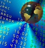 Borsa valori e terra illustrazione vettoriale