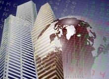 Borsa valori globale royalty illustrazione gratis