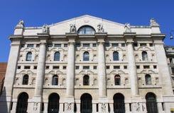 Borsa valori italiana a Milano Immagine Stock
