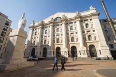 Borsa valori italiana Borsa Italiana a Milano, Italia Fotografia Stock Libera da Diritti