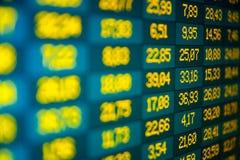 Borsa valori in linea Fotografia Stock