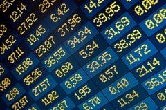 Borsa valori in linea Fotografia Stock Libera da Diritti
