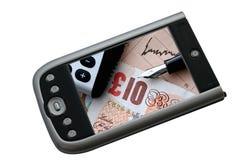 Borsa valori PDA fotografie stock libere da diritti