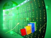 Borsa valori sullo schermo Fotografie Stock Libere da Diritti