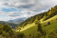 Borsa 2. A view through mountain valley, with Borsa village, Maramures county, Romania Royalty Free Stock Photography