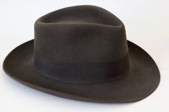 шлем подающего borsalino чувствуемый Стоковое Фото