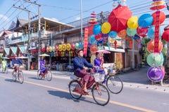 Borsang umbrella festival royalty free stock image