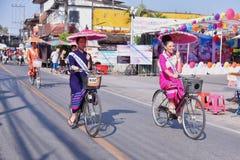 Borsang umbrella festival stock photography