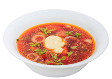 Borsch with beets and beans Stock Photography