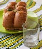Borsch bun to Stock Image