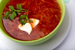 Borsch close-up Royalty Free Stock Photos