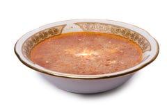 Borsch con crema acida Immagini Stock Libere da Diritti