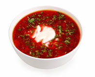 Borsch isolated on white Stock Images