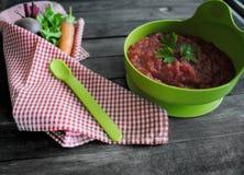 Borsch, minestra della barbabietola Fotografia Stock