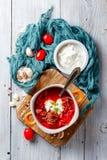 Borsch rödbetasoppa Royaltyfri Fotografi