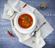 Borsch, russian national red soup Stock Images
