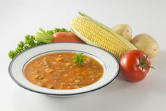 Borsch Soup. And some ingredients royalty free stock images