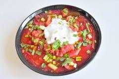 Borsch soup close up. Stock Images