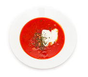 Borsch top view Royalty Free Stock Photo