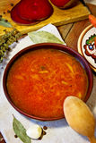 Borsch traditionnel ukrainien Photo stock