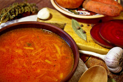 Borsch traditionnel ukrainien Image libre de droits