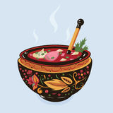 Borsch ucraniano de la sopa Foto de archivo libre de regalías