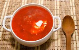 Borsch ukrainian and russian national soup Stock Photos
