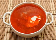 Borsch ukrainian and russian national soup Stock Photo