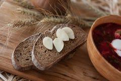 Borsch - un piatto ucraino tradizionale immagine stock libera da diritti