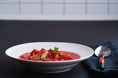 Borscht/ρωσική σούπα Στοκ Εικόνες