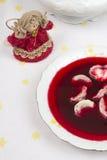 Borscht avec des boulettes Photos libres de droits