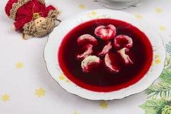 borscht avec des boulettes Photographie stock libre de droits