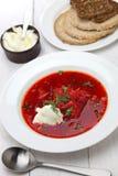 Borscht, beet soup Stock Photo
